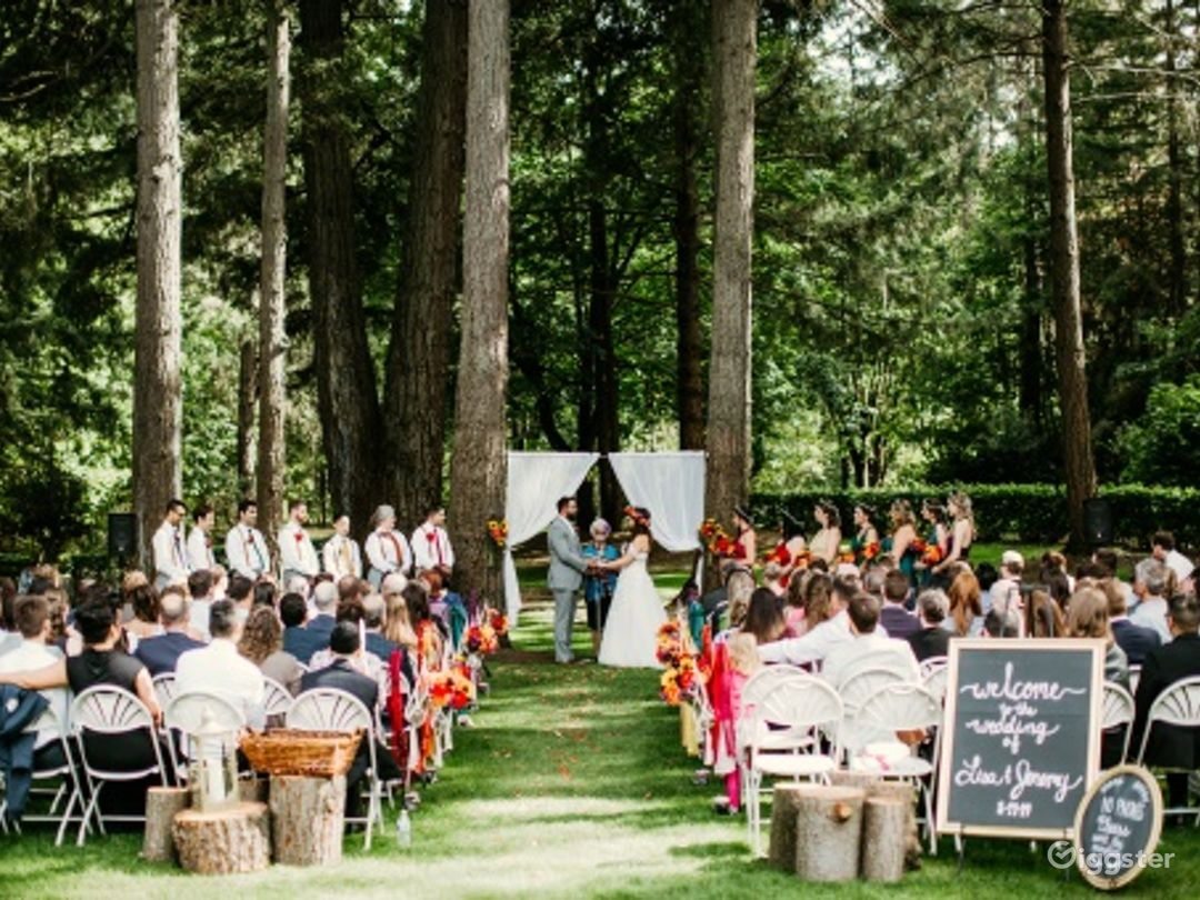 Stunning Outdoor Event Space in Mature Forest Photo 1
