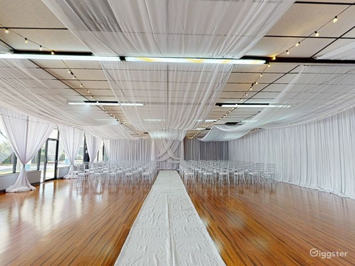 Polished Ceremony Room with Windows in Clearwater