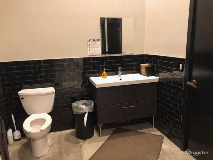Green room restroom.